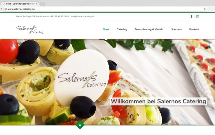Salerno´s Catering Heidelberg - Website